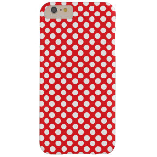 White and Red Polka Dot Barely There iPhone 6 Plus Case