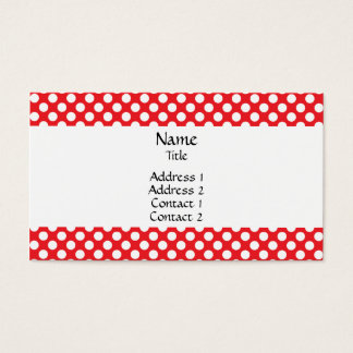 White and Red Polka Dot Business Card