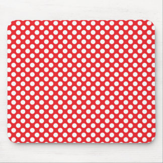 White and Red Polka Dot Mouse Mat
