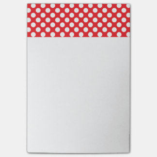 White and Red Polka Dot Post-it Notes