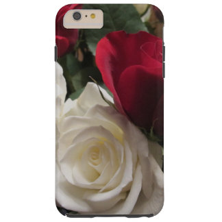 White and Red Roses Cell Phone Case