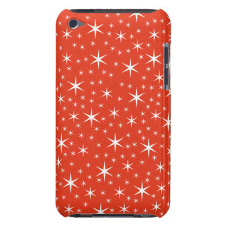White and Red Star Pattern Barely There iPod Cases