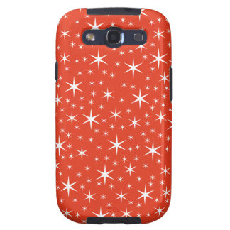 White and Red Star Pattern Galaxy SIII Case