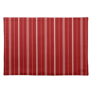 White and Red Striped Place Mat