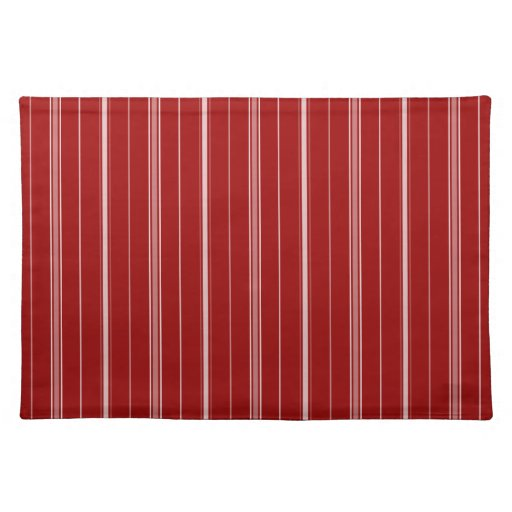 White and Red Striped Placemat