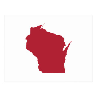 White and Red Wisconsin Postcard