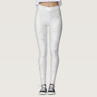 White and silver pattern leggings