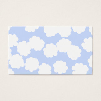 White and Sky Blue Clouds Pattern.