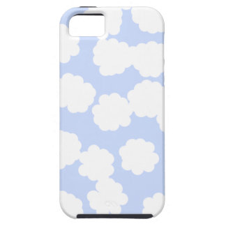 White and Sky Blue Clouds Pattern. iPhone 5 Case