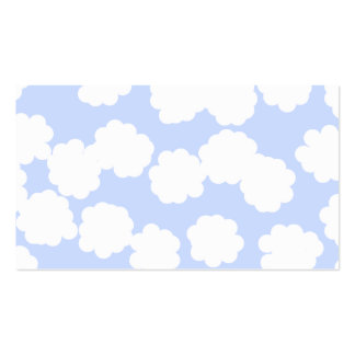 White and Sky Blue Clouds Pattern. Pack Of Standard Business Cards