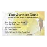 White And Yellow Daffodil Business Card Templates