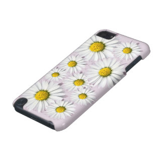 White and yellow daisies floral print iPod touch 5G case