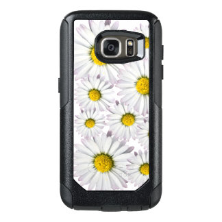 White and yellow daisies floral print OtterBox samsung galaxy s7 case