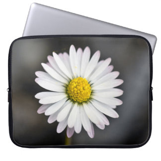 White and Yellow Daisy Laptop Sleeve