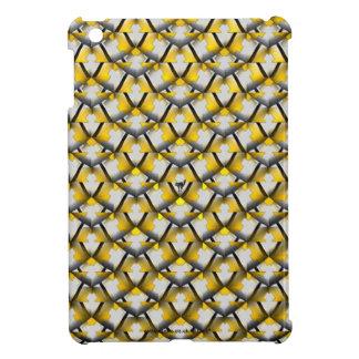 White and Yellow Diagonal Pattern iPad Mini Case