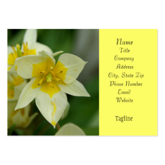White and Yellow Flower Business Card