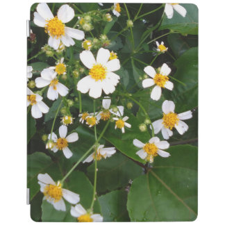WHITE AND YELLOW FLOWERS iPad COVER