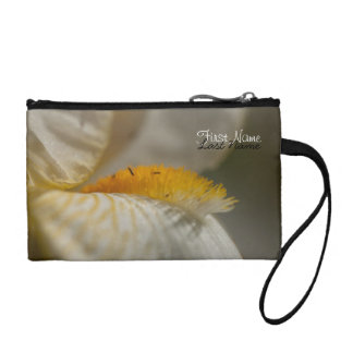 White and Yellow Iris; Customizable Coin Wallets