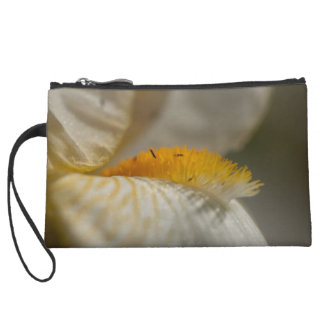 White and Yellow Iris Wristlet