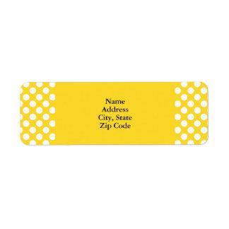 White and Yellow Polka Dot