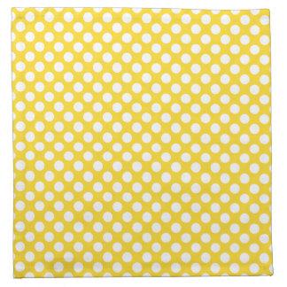 White and Yellow Polka Dot Napkin