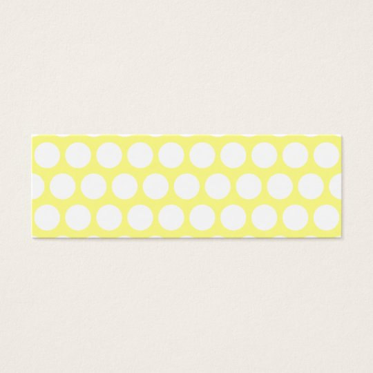 White and Yellow Polka Dots Mini Business Card