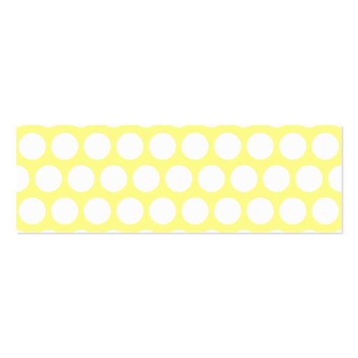 White and Yellow Polka Dots Pack Of Skinny Business Cards