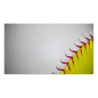 White and Yellow Softball Baseball Business Card Template