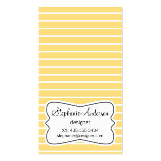 White and Yellow Stripes Business Card