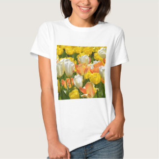 White and yellow tulips t-shirt