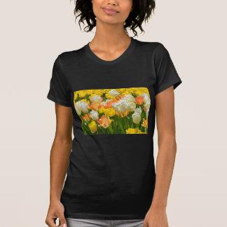 White and yellow tulips tshirts