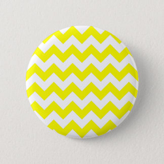 White and Yellow Zigzag Pattern 6 Cm Round Badge