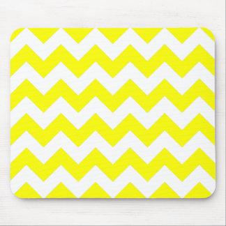 White and Yellow Zigzag Pattern Mouse Mat