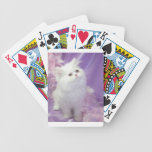 White Angora Persian Kitten Cat Playing Cards