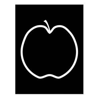 White Apple Outline. Postcard