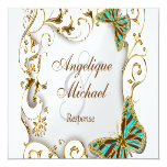 White aqua gold country RESPONSE Personalized Announcement
