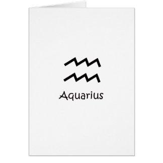 White Aquarius Zodiac January 20 - February 18 Greeting Card