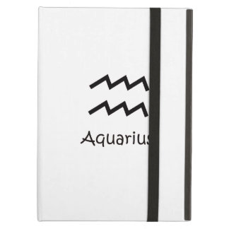 White Aquarius Zodiac January 20 - February 18 iPad Air Cover