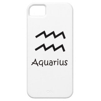White Aquarius Zodiac January 20 - February 18 iPhone 5 Cover