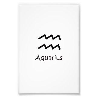 White Aquarius Zodiac January 20 - February 18 Photograph