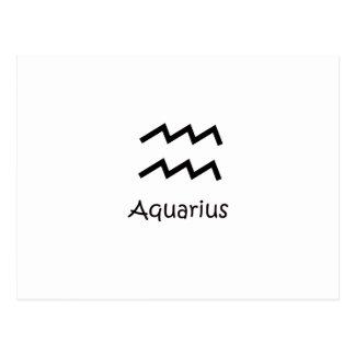 White Aquarius Zodiac January 20 - February 18 Postcard