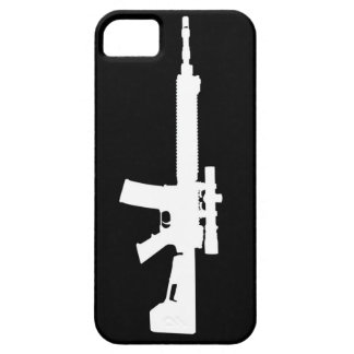 White AR-15 iPhone 5 Universal Case iPhone 5 Case
