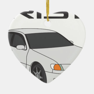 White Aristo Christmas Ornament
