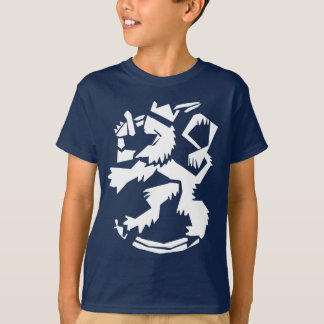 White Arty Lion Kids' Dark T-Shirt