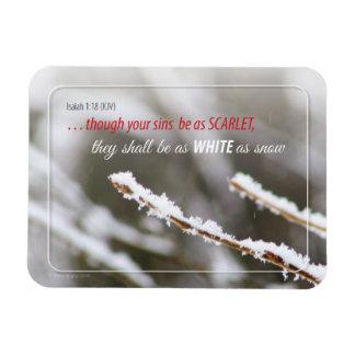 White as Snow - Isaiah Rectangular Photo Magnet