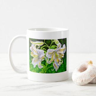 White Asiatic Lilies Mug