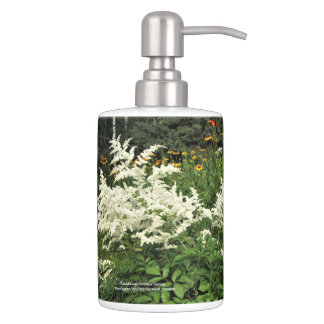 White Astilbe, Gloriosa Daisies Bathroom Set