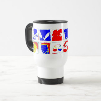 White Astrology Symbols Mug