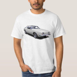 White AvanTee Classic American Car T-Shirt