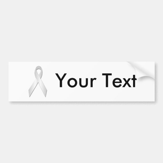 White Awareness Ribbon Bumper Sticker